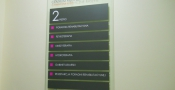 Directory sign - tempered glass - (8)