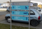 Outdoor Information Board - Outside Signs VISUAL INFORMATION APO
