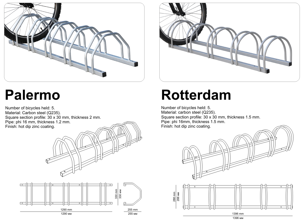bike racks specifications